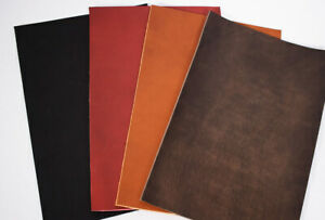 """Cowhide Bare Leather with Pull-Up Finish 2 mm thick 11.8x7.9"""" vegatable tanning"""