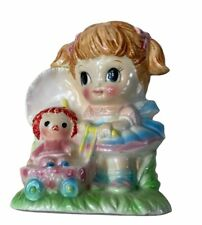 New ListingVintage Rubens Originals Japan Ceramic Planter Girl with Doll in Baby Carriage