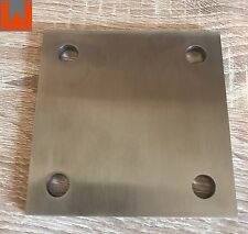 Ankerplatte Edelstahl V2A, 100x100x6mm, geschliffen, Kopfplatte, Anschweißplatte