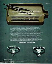 PUBLICITE ADVERTISING 026  1978  De Beers joaillier diamant carat