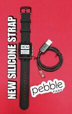 Smartwatch PEBBLE STEEL 401B - Correa Silicona - Muy BUENO - sn Q204245E00CZ