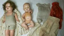 Antique Mama Doll & Lot of Clothing