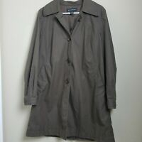 INC International Concepts Women's Trench Coat Brown Button Closure Size L