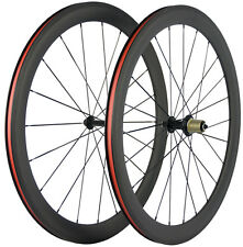 Road Bike Carbon Wheels 50mm Depth Clincher Bicycle Wheelset 23mm Width Shimano
