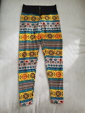 Women's zippered winter pattern leggings