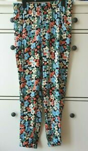 Zara  BLACK Floral Printed Relaxed Fit Mid Rise Trousers/The Jogger  BNWT SIZE M