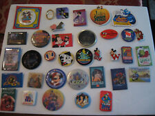 OLD DISNEY COLLECTIBLE MIXED LOT OF 35 PINBACKS, BUTTONS & MORE LOT 6