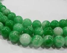 8mm, Étonnamment vert émeraude Gemme perle ronde ,38cm