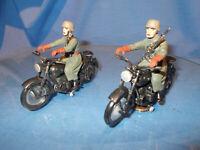 2 HAUSSER_ELASTOLIN KRADMELDER  2.WK/Wehrmacht für 7 cm...60er Jahre