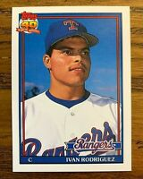 1991 Topps Traded #101 Ivan Rodriguez RC - Rangers