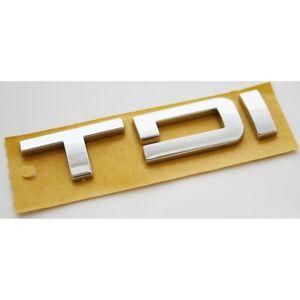 Original Seat TDI Schriftzug hinten Heckklappe Emblem Logo Zeichen chrom OEM