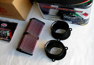 DUCATI 1098 R 1198 S SP CORSE DIAVEL 1200 CARBON VELOCITY STACKS AIR FUNNELS