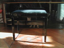 Tabouret pour piano NAUTILE réglable neuf, banquette de qualité bois acajou