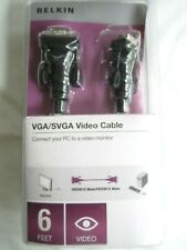 Belkin VGA/SVGA Video Cable 6 Feet New Unopened connect PC to Video Monitor