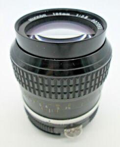 Nikon 105mm F/2.5 AI Camera Lens Japan 1:2.5 NIKKOR Manual Prime Auto Indexing