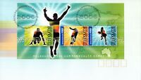 L2656sbs Australia FDC 2006 Commonwealth Games Mini Sheet
