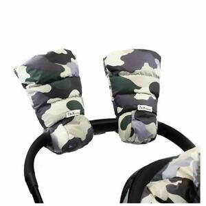 7am Enfant Warmmuffs Stroller Hand Muffs Gloves One Size Camo Forest Vegan NEW