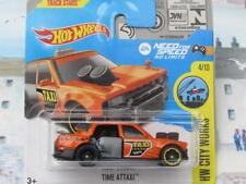 Hot Wheels 2017 #168/365 TIME ATTAXI orange taxi HW City Works