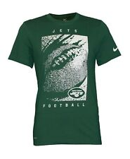 Nike Men's White New York Jets Football Performance Dri-Fit Drifit Green Shirt