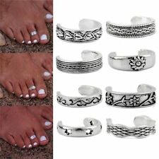 8Pcs/Set Flowers Carved Toe Ring Set Fashion Foot Rings Women Beach Jewelry HOT