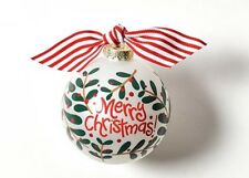 "Coton Colors Glass Christmas Ornament ""Merry Christmas"" New in Box"