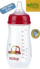 Wide Neck Baby Toddler Feeding Bottle Anti-colic soft Silicone Nipple BPA Free