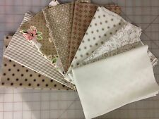 Moda Olives Flower Market Fabric Fat Quarter Bundle Lella Boutique in Taupe