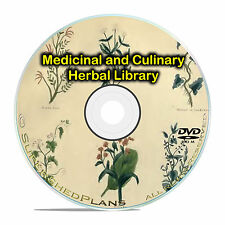 Growing Medicinal & Culinary Herbs, Garden Herbal Healing - 96 books DVD CD B59