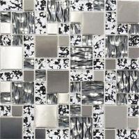 Glasmosaik schwarz mix Küche WC Wand Fliesenspiegel Art:WB88-0203|1 Matte