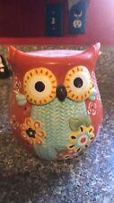 Orange Owl Cookie Jar