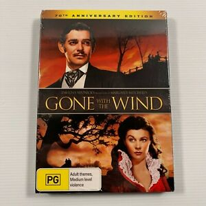 Gone With The Wind SEALED (DVD 2009 2 disc-set) 1939 film Clark Gable Region 4