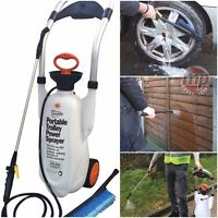 12L Portable Wheeled Trolley Power Sprayer Washer for Garden, Fence, Weed Killer