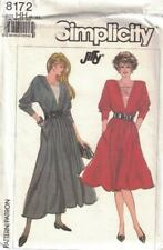 Simplicity 8172 Dress in 2 Lengths Dolman Sleeves 1987 Jiffy New Size 6-12