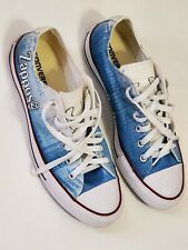 Converse Low Sneakers Blue White Zappos Logo Custom Shoes Mens 8 Womens 10