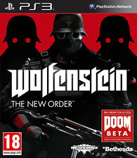 Wolfenstein el nuevo orden ~ Ps3 (como Nuevo En Estado)