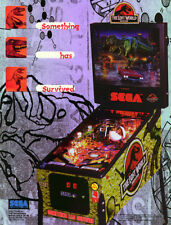 Jurassic Park The Lost World Pinball FLYER Original NOS 1997 Promo Artwork Sheet