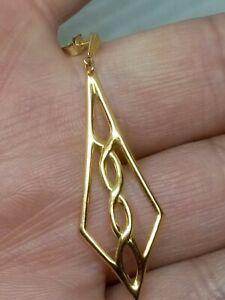 1 x Vintage  Single Solid 9ct Gold 375 Celtic Knot Stud Drop Dangle Earring
