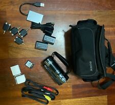 Sony hdr-cx130 camcorder with original and additional accessories