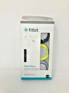 Fitbit Sport Band Set for Flex 2 Tracker 3 Pack (Navy/Gray/Yellow) Sz Large