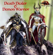 """Death Dealer & Demon Warrior 1/6 1:6 Figure 12"""" Tbleague Phicen OOAK Frazetta"""