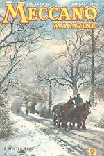 1950 JANUARY 33606  Meccano Magazine Cover Picture  A WINTER ROAD