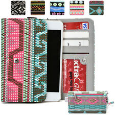 KroO ESPS-3 LG Aztec Patterned Protective Wallet Case Cover for Smart-Phones