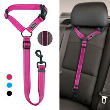 Safety Dog Car Seat Belt Clip Harness Restraint Leash Reflective Adjustable Blue