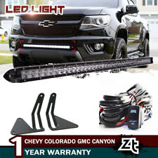 "2015 16 17 18 Chevy Colorado GMC Canyon 30"" LED Light Bar+Hidden Bumper Brackets"