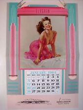 "ELVGREN PINUP CALENDAR ""Mimi"" 1990 SAMPLE 1964 BROWN BIGELOW ADVERTISING ORIG"