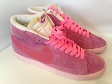 WOMENS NIKE DUSTY PINK SUEDE BLAZER HI TOPS TRAINERS BOOTS UK 7 EU 41