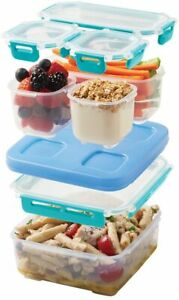 Rubbermaid LunchBlox Small Entree Kit Leak-Proof Lunch Container Blue