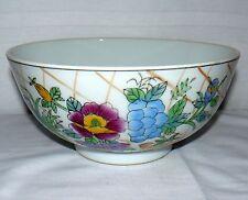 "Chinese Porcelain Decorative Bowl Beautiful Floral Design 10"" Around"
