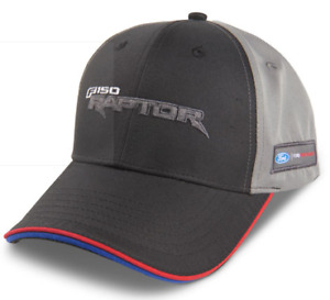 Official F-150 Raptor Cap Black and grey design with red and blue piping