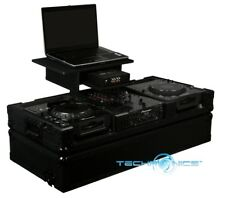 """ODYSSEY FZGS10CDJWBL BLACK LABEL 10"""" MIXER/2 LARGE CD PLAYER COFFIN FOR LAPTOP"""